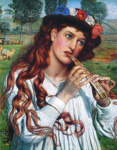 Herderinnetje Amaryllis (William Holman Hunt)  prerafaeliet