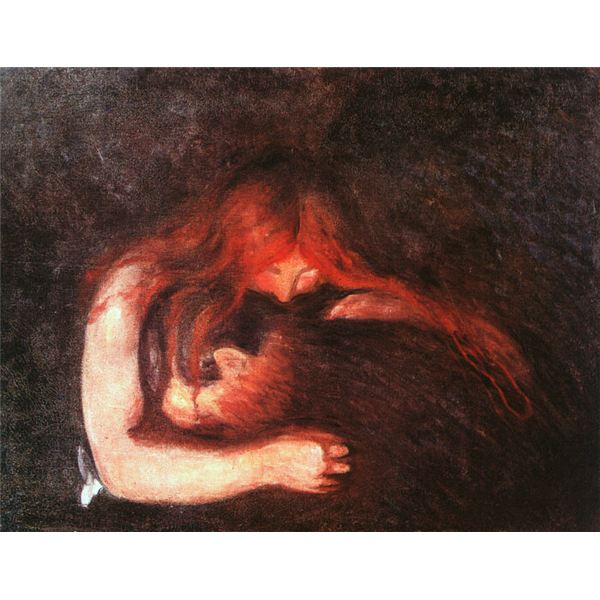 Edvard Munch Vampir Schwarze Romantik Het symbolisme van Edvard Munch: dromen en visioenen