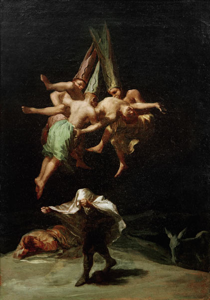 goya flug der hexen heksen schwarze romantik Schwarze Romantik Von Goya bis Max Ernst