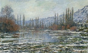 Claude Monet winter vorst frost tau thaw thaw 800px-Claude_Monet_-_The_thaw_at_Vetheuil