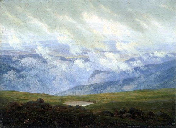 Caspar David Friedrich Wolken in der kunst clouds in art stone bridge 1820 580x421 Wolken in de kunst
