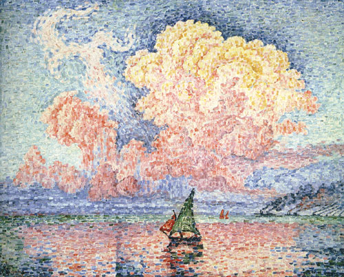 Paul Signac   The Pink Cloud, Antibes Wolken in der kunst clouds in art Wolken in de kunst