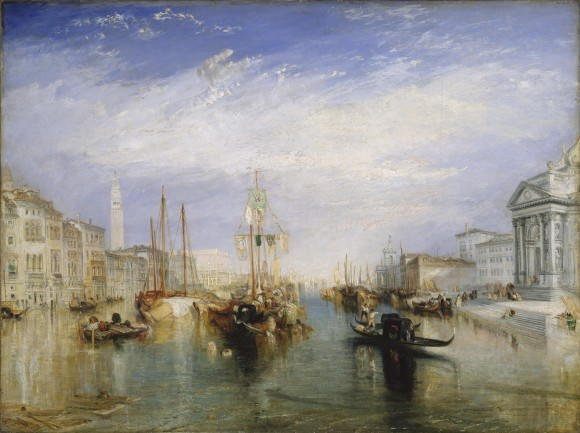 Turner, J. M. W.   The Grand Canal   Venice Wolken in der kunst clouds in art 580x433 Wolken in de kunst