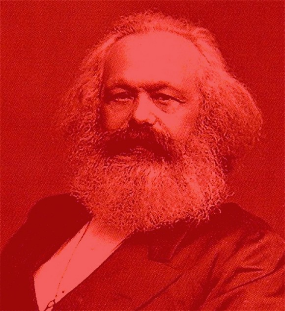 Karl Marx rood kabouter 4 580x633 Shades of red: Karl Marx