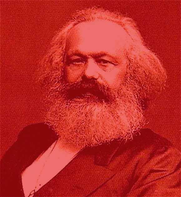 Karl Marx rood kabouter1 580x633 Shades of red: Karl Marx