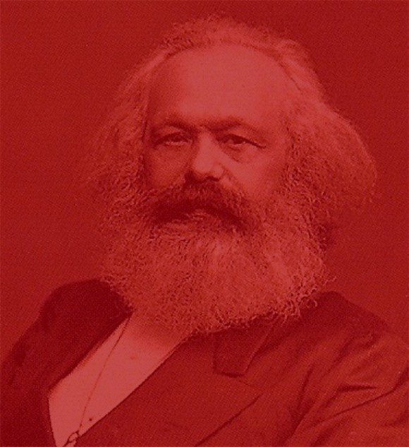 Karl Marx shades of red